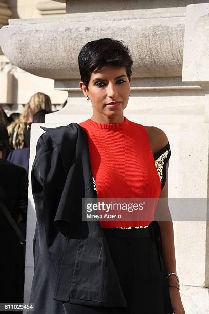 Princess Deena alJuhani Abdulaziz attends the Maison Margiela show as part of the Paris Fashion Week Womenswear Spring/Summer 2017 on September 28...