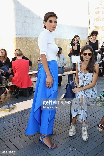 Princess Deena AlJuhani Abdulaziz attends the Sophie Theallet fashion show during Spring 2016 MADE Fashion Week at Shop Studios on September 15 2015...