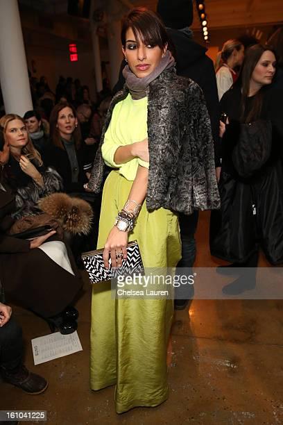 Princess Deena AlJuhani Abdulaziz attends the Suno fall 2013 fashion show during MADE Fashion Week at Milk Studios on February 8 2013 in New York City