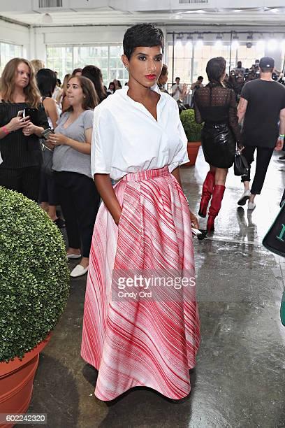 Princess Deena Aljuhani Abdulaziz attends the Tibi fashion show during New York Fashion Week at Industria Studios on September 10 2016 in New York...