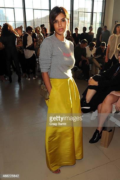 Princess Deena Aljuhani Abdulaziz attends the Zero Maria Cornejo Spring 2016 fashion show during New York Fashion Week at Shop Studios on September...