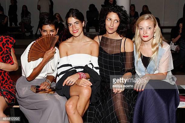 Princess Deena alJuhani Abdulaziz author Leandra Medine Yasmin Sewell and Kate Foley attend the Ostwald Helgason fashion show during MADE Fashion...