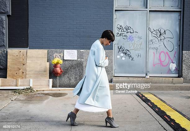 Princess Deena AlJuhani Abdulaziz is seen outside the Calvin Klein show on February 19 2015 in New York City