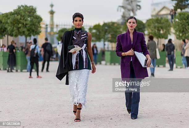 Princess Deena Aljuhani Abdulaziz outside Jacquemus on September 27 2016 in Paris France