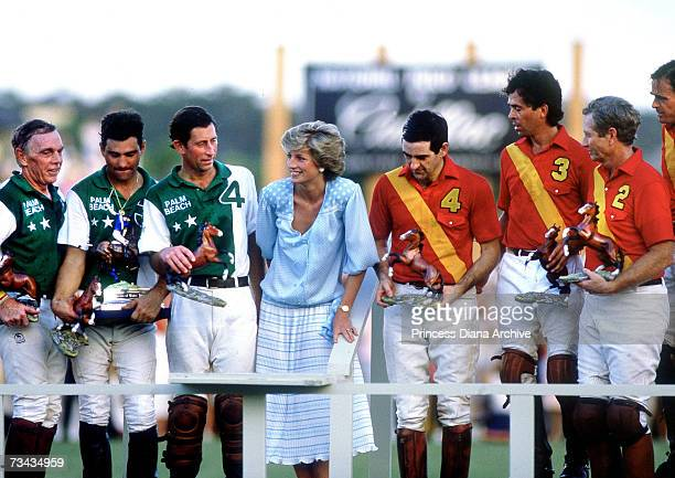 Princess Diana and Prince Charles at a polo match in Palm Beach Florida November 1985 Prince Charles competed in the match and Diana presented the...