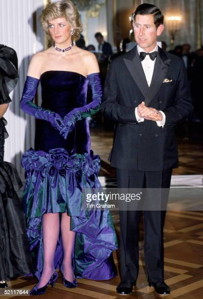 Princess Diana And Prince Charles At Munich Opera House In Germany