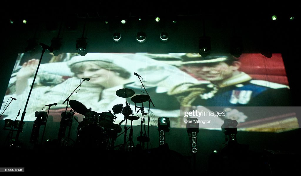 Princess Diana and Prince Charles during a projection at the begining of The Specials performance at Nottingham Capital FM Arena on October 21, 2011 in Nottingham, United Kingdom.