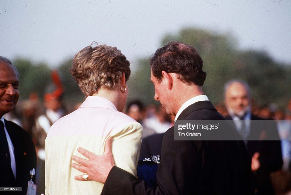 Princess Diana And Prince Charles In India
