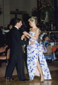 Princess Diana And Prince Charles Leading The Dance At A Bicentennial Dinnerdance In Melbourne During Their Royal Tour Of Australia Diana's Dress Has...
