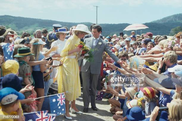 Princess Diana and Prince Charles visit Yandina Ginger Factory in Queensland Australia during the Royal Tour of Australia 12th April 1983 The...