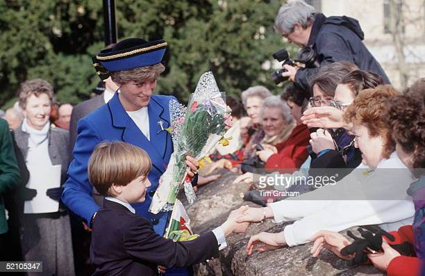 Princess Diana And Prince William In Wales On St David's Day