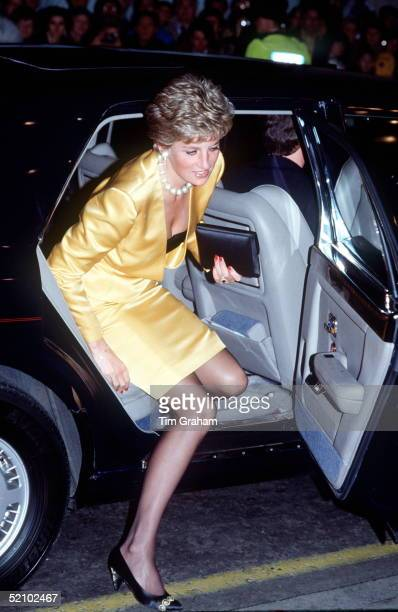 Princess Diana Arriving By Car At The London Palladium Theatre