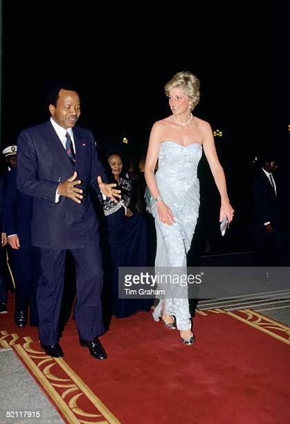 Princess Diana Arriving For A Banquet In Cameroon