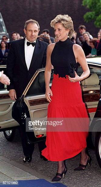 Princess Diana Arriving For A Pavarotti Concert At Royal Albert Hall In Aid Of The Red Cross 125th Birthday Appeal She Is Patron Of The British Red...