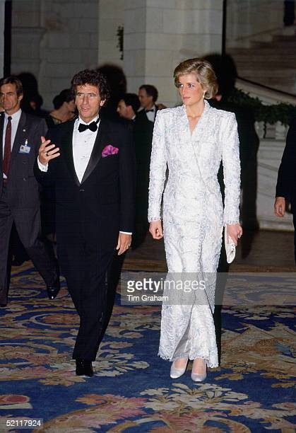 Princess Diana At Chateau Chambord In France Her Outfit Is By Designer Catherine Walker