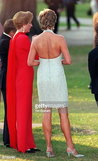 Princess Diana At Serpentine Gallery In Hyde Park London For Dinner Hosted By Vanity Fair Magazine