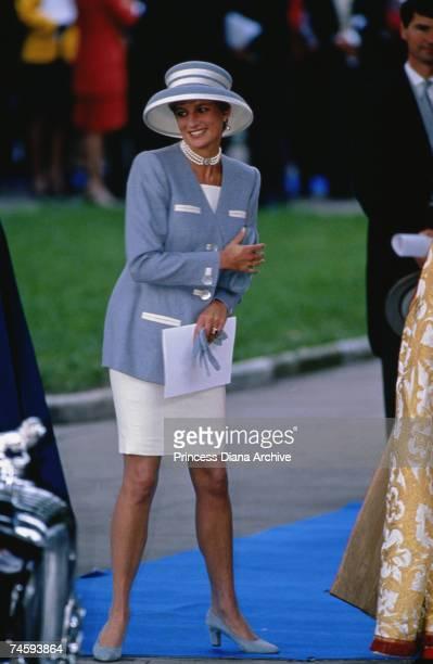 Princess Diana at the wedding of David ArmstrongJones Viscount Linley and The Hon Serena Stanhope London 8th October 1993