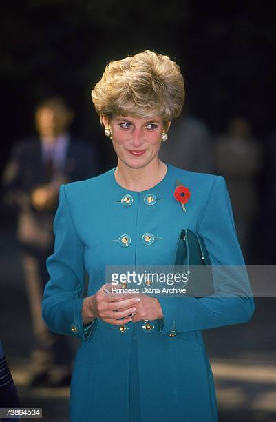 Princess Diana attending an Aglican church service during an official visit to Seoul in Korea 4th November 1992