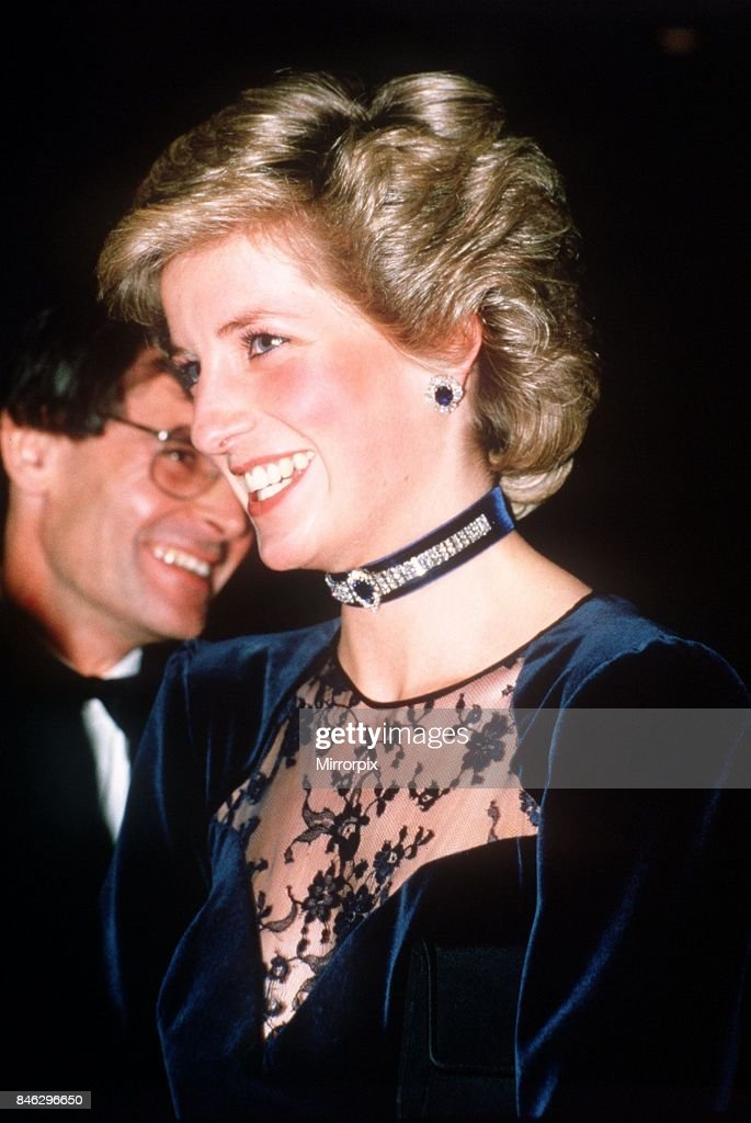 Princess Diana attends film premiere of Santa Claus The Movie at The Odeon Cinema in Leicester Square, London,25th November 1985.