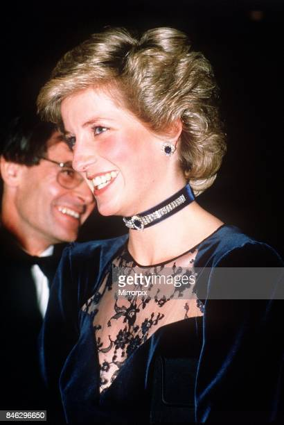 Princess Diana attends film premiere of Santa Claus The Movie at The Odeon Cinema in Leicester Square London25th November 1985