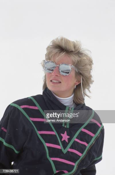 Princess Diana during a skiing holiday in Klosters Switzerland 9th March 1988