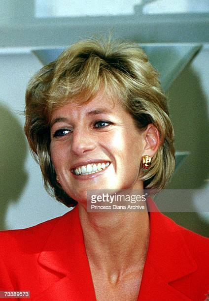 Princess Diana during a visit to the London Lighthouse a centre for people affected by HIV and AIDS in London October 1996