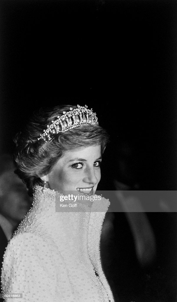 Princess Diana in a tiara, 1989.