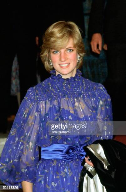 Princess Diana In Cardiff Wales After Delivering A Speech In Welsh