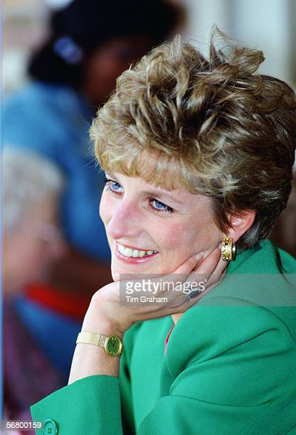 Princess Diana in Derbyshire during a visit to a care centre