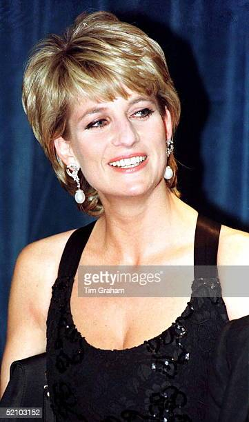 Princess Diana In New York To Receive Her Award As Humanitarian Of The Year From Henry Kissinger At A United Cerebral Palsy Dinner