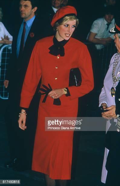 Princess Diana in Southampton to christen the PO cruise ship 'Royal Princess' 15th November 1984