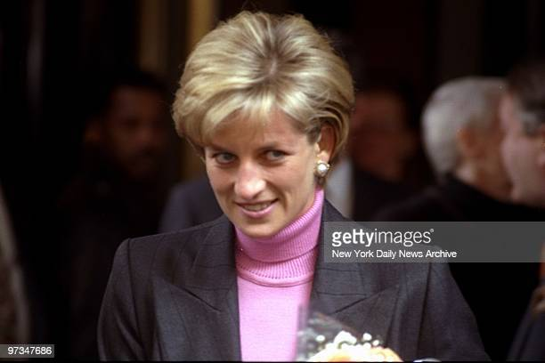 Princess Diana leaves the Carlyle Hotel for the airport