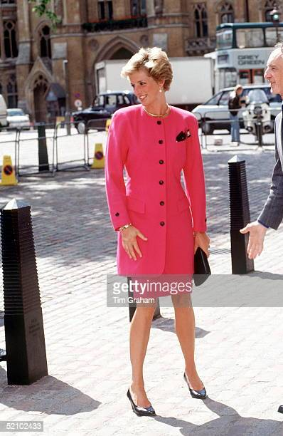 Princess Diana On A Visit In Westminster London