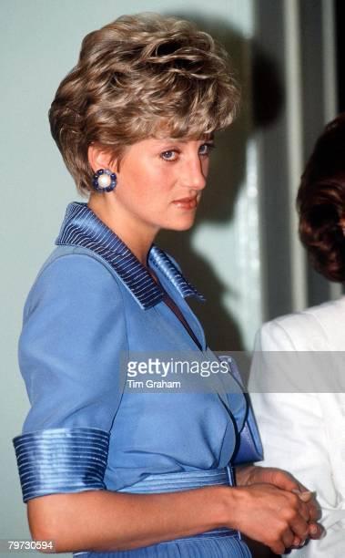 Princess Diana on a visit to Egypt