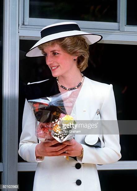 Princess Diana On A Visit To Japan
