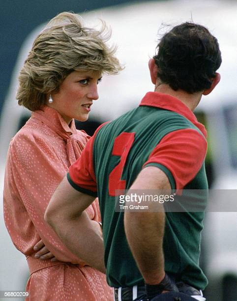 Princess Diana Princess of Wales and Prince Charles Prince of Wales at Smith's Lawn Polo Club