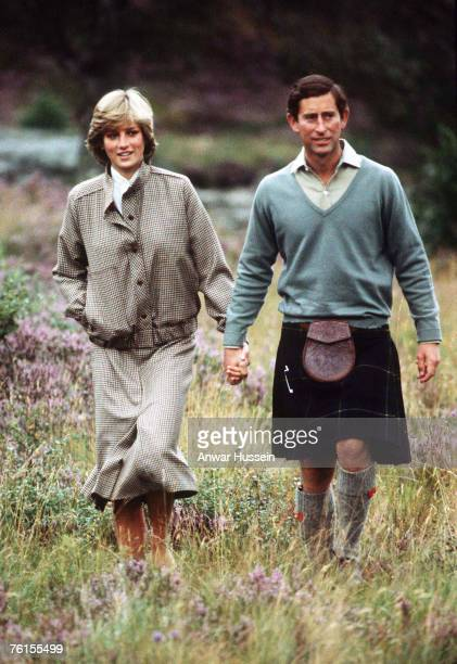 Princess Diana Princess of Wales and Prince Charles Prince of Wales honeymoon in Balmoral in August 1981