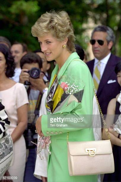 Princess Diana Princess Of Wales Arriving At The Venice Biennale In Italy