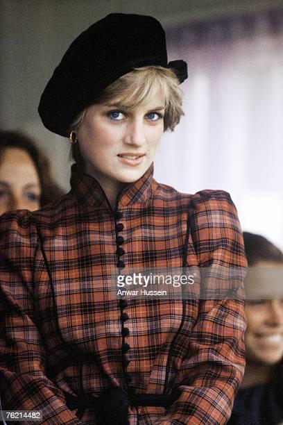Princess Diana Princess of Wales at the Braemar Highland Games on September 1982 in Scotland