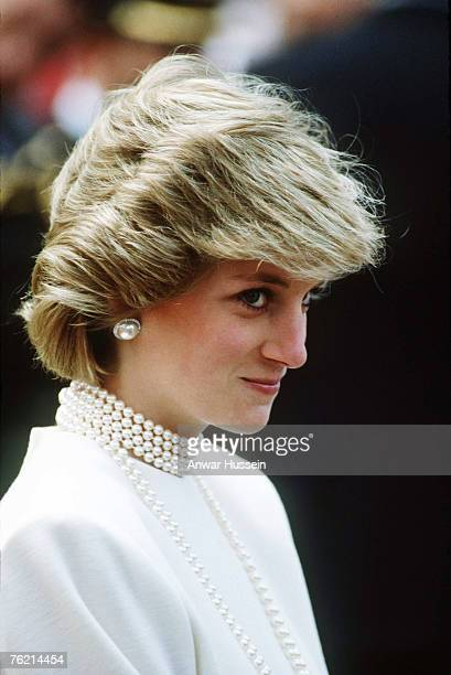 Princess Diana Princess of Wales in Canada in June 1983 gives a sidelong glance to the camera Diana claimed she could see a photographer 100 yards...