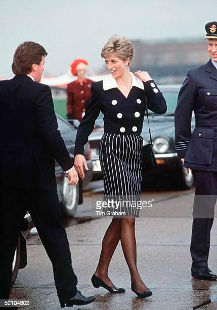 Princess Diana Smiling At Her Bodyguard Ken Wharfe