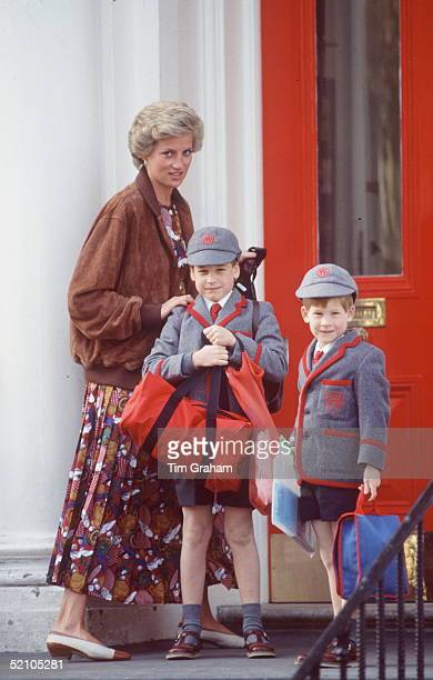 Princess Diana Taking Prince William And Prince Harry Back To Wetherby School For The Summer Term It Will Be The Last Term For Prince William At His...