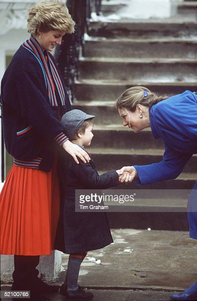 Princess Diana Taking Prince William On His First Dayto Wetherby His Preprep School In London