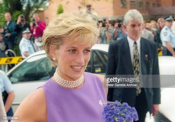 Princess Diana the Princess of Wales visits St Vincent's Hospital on November 01 1996 in Sydney Australia