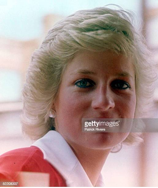 JANUARY 1988 Princess Diana travels on the official train for the Bicentennial Royal Tour in Sydney Australia