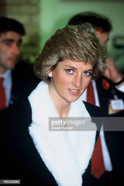 Princess Diana visits Marks Spencers shopping store on November 10 1988 in Paris France