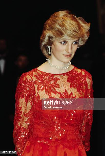 Princess Diana visits the London City Ballet in Oslo Norway on February 11 1984