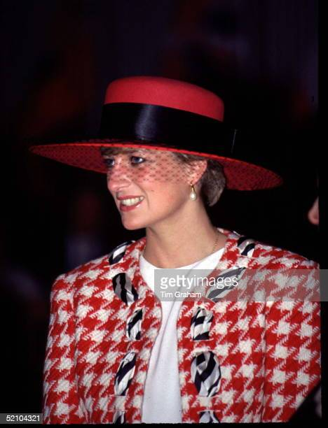Princess Diana Wearing A Suit Designed By Fashion Designer Moschino