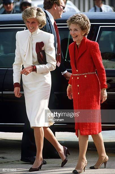 Princess Diana With First Lady Nancy Reagan Visiting A Drug Rehabilitation Centre Called 'straight' In Springfield Virginia