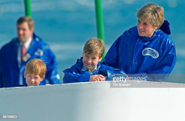 Princess Diana with her sons Prince William and Prince Harry in Toronto during their visit to Canada